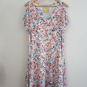 NWT Maeve Multicolor Cold Shoulder Dress